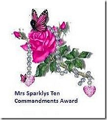Mrs Sparklys Ten Commandment Award